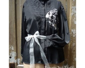 Witchy Gypsy Mourning Blouse by Execution Style OOAK