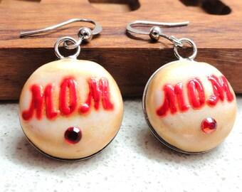 Mothers day Jewelry Earrings polymer clay earrings Mom earrings