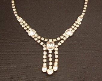 Rhinestone Necklace Choker Wedding Evening Prom True Vintage A197