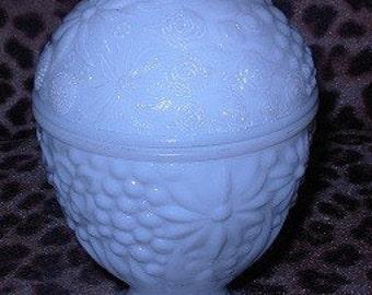 Avon Milk Glass Candy Dish