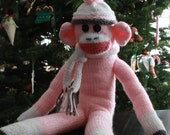 Knitted Sock Monkey Toy