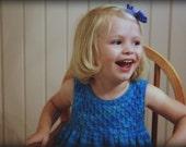 Size 6-12 months Tonal Blue Charlotte Dress