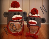 Sock Monkey Hats for the Whole Family (pdf knitting pattern)