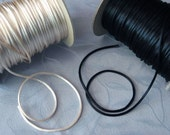 3mm Satin Rattail Cord - 3 Colors- Black, Ivory, or Antique Gold  - 15 Feet Rayon/Cotton