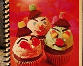 Vintage Recycled Betty Crocker Recipe Journal - Super Scary Clown Cupcakes