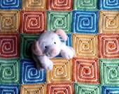 Pattern for Crocheted Spiral Squares - PDF