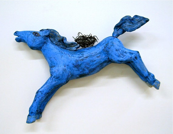 xxx Reserved for Leigh,  Horse Wall Decor, Ceramic, Clay, Journey Home xxxx