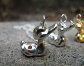 Sterling Silver Duck with topaz