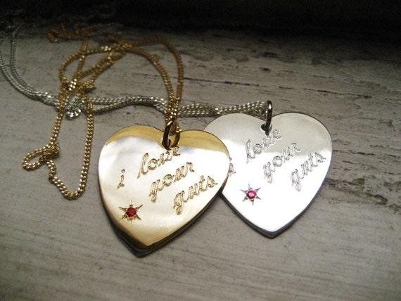 Sterling Silver MIni Guts Heart