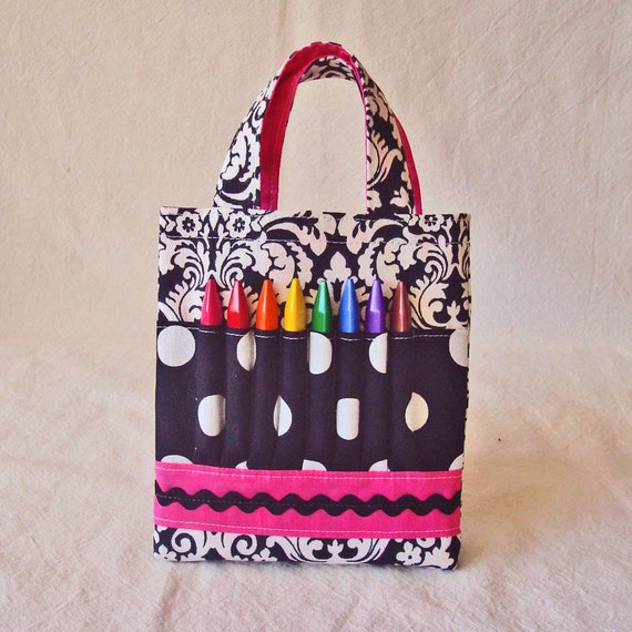 45% off  Sale  CLEARANCE ARTOTE Mini Coloring Purse Crayon Bag Crayon Tote Art Activity in French Poodle