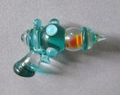 Glass Lampwork Retro Ray Gun Sculpture or Pendant