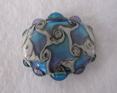 Lampwork Bead Liquid Swirl Focal