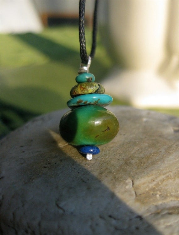 Wee Cairn Turquoise Necklace Pendant