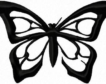 Butterfly Doodles Embroidery Machine Design Patterns Digital Download
