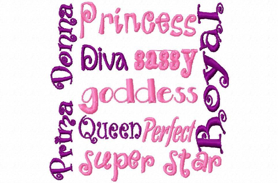 Princess Diva Block Embroidery...