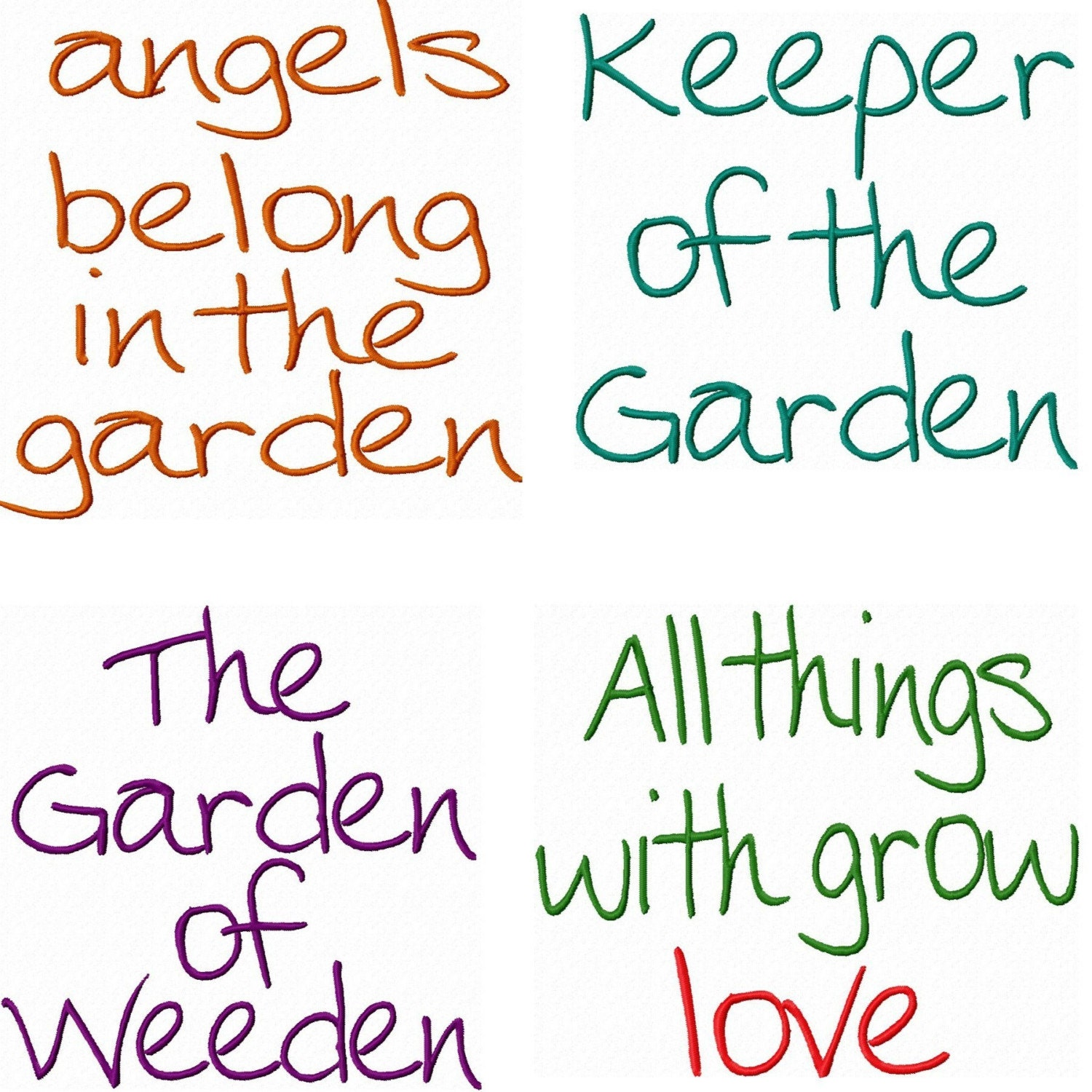 Garden Design Quotes : Garden sayings embroidery machine designs by izabellascloset