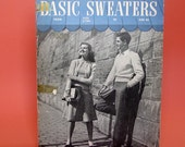 1945 Basic Sweaters Knitting Booklet RESERVED