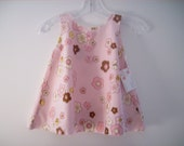 Organic Pink Dress with Little Birds Size -2 SALE