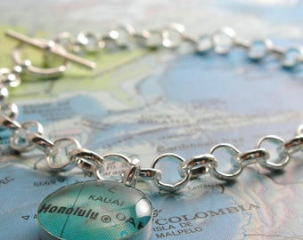 Toggle Bracelet, Sterling Silver Toggle, Charm Bracelet, will you be my bridesmaid