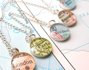 SALE | Personalized Bridesmaids Gifts, Bridesmaid Gifts, Bridesmaids Jewelry, Bridesmaid Necklace, Will You Be My Bridesmaid, Map Necklace