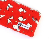 The Pouch, A Leash Bag  - Red Retro Dog