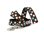 Leash - 6ft Candy Dots Blue