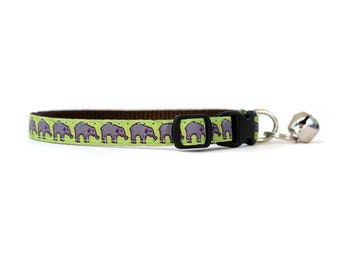 3/8 Wide Collar for Cat or Tiny Puppy in On Parade