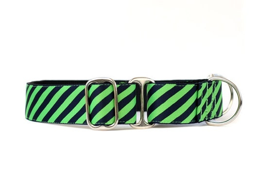 Wide 1 1/2  inch Martingale Dog Collar in Power Tie