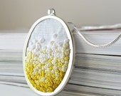 Yellow Gradient Necklace silk ribbon embroidery by bstudio on Etsy
