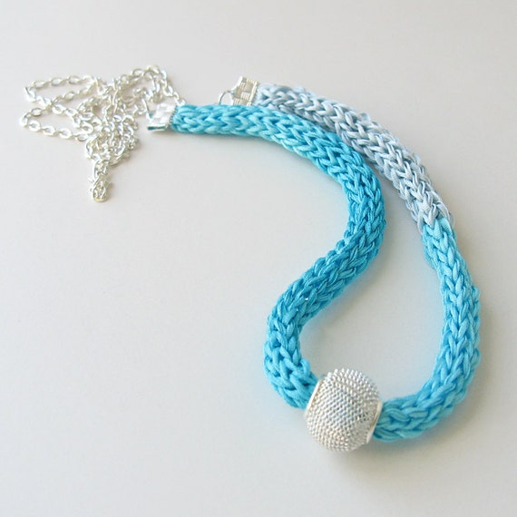 Aqua Silk Necklace