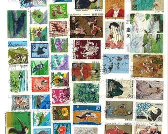Digital Collage Sheet-International Postage Stamps-Japanese-2