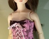 Pink Floral CORSET for Volks Super DOLLFIE sd13 delf bjd