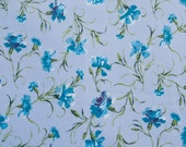 CLOSEOUT - Liberty of London Tana Lawn Fabric - Blue Floral - 19in x 26in - Buy One get One Free