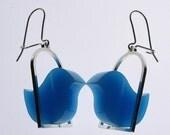 Blue birdee earrings