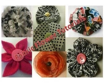 Easy No Sew Fabric Flower Tutorials