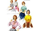 Women teen blouse sewing pattern McCalls 3368 Bust 32
