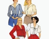 Butterick 4220 small/petite tops with sailor collar Bust 32