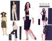 Shirt halter top Skirt shorts pants sewing pattern Vogue 2565 Bust 34 to 38