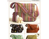 Butterick B4560 diaper bag sewing pattern one size new Moms baby shower gift Uncut