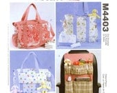 Laura Ashley Diaper Bag sewing pattern new moms gift pregnancy moms baby shower McCalls M4403 uncut