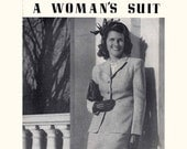 1940s Vintage Sewing Booklet How to Tailor a Woman's Suit booklet