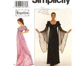 90s Gothic style Begotten dress Simplicity 8619  sewing pattern Bust 36 to 40