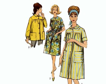60s Artists top Smock style duster blouse Simplicity 4572 vintage sewing pattern Bust 34