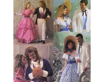 Rhett Scarlett costumes Beauty Beast Southern style Fairytale Simplicity 7971 sewing pattern Uncut Adult