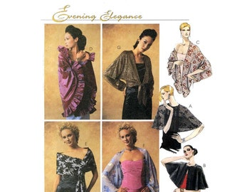 Wedding Capelet evening wrap Sewing pattern McCalls 3880 XS to XL