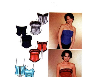 Bustier Corset top sewing pattern Simplicity 7009 Sz 4 to 10