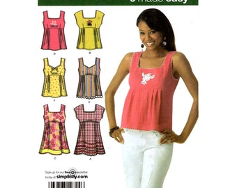 Summer Pullover Tunic or top sewing pattern Simplicity 4176 Sz 4 to 12 UNCUT