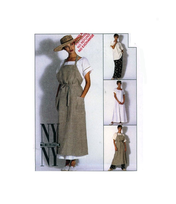 90s McCall's 6989 apron dress and separates sewing pattern Bust 36