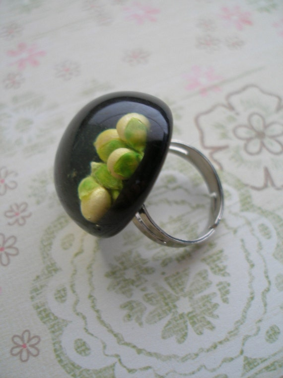 Black Acrylic (resin) Ring