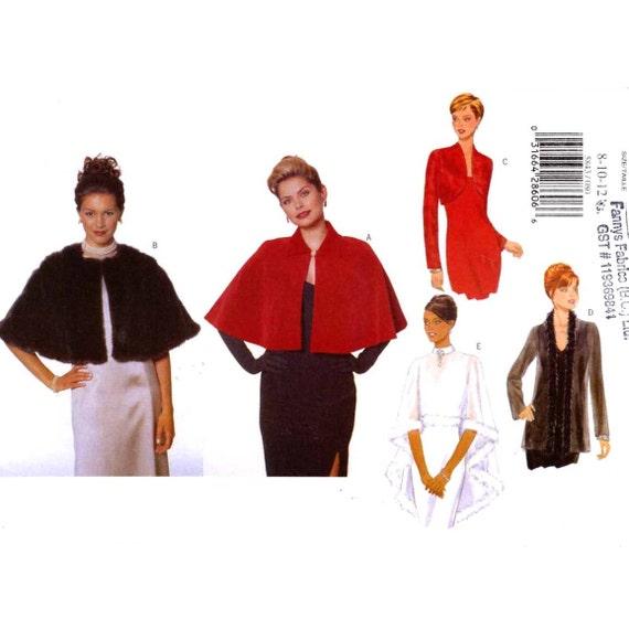 Evening wear capelet shrug Butterick 5843 sewing pattern